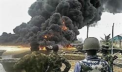 взрыв война нефтепровод огонь