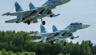 самолет истребитель Су-30СМ Беларусь