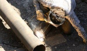 ремонт теплосети труба