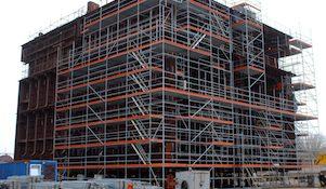 сборка центральной части опорного основания ледостойкой стационарной платформы в Южный центр судостроения и судоремонта (ЮЦСС, ОСК)