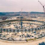 На Курской АЭС-2 бетонируют оболочку самой высокой в России градирни