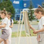 Участники Мастерской добра нарисовали на пленэре объекты Омского НПЗ