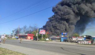 пожар Новосибирске на газовой АЗС