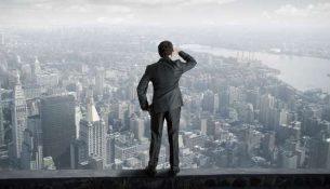 взгляд в будущее, город
