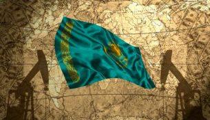 флаг Казахстана нефть
