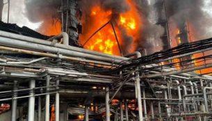 новым уренгоем пожар на заводе по подготовке конденсата к транспорту