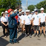 Студотрядовцы Липецкэнерго посетили одну из ключевых подстанций областного центра